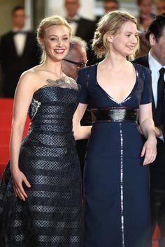 "Sara Gadon and Mia Wasikowska - 2014 Cannes Film Festival, ""Maps to the Stars"" premiere"