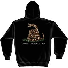 Don't Tread on Me Hooded Sweatshirt - Black | [ eMarinePX.com ] #USMC #Marine #Clothing