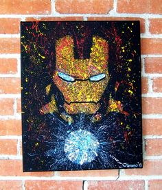 Iron Man splatter paint
