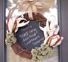 Message to Delivery Man Wreath #packages #decoration