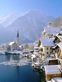 Hallstatt, Austria I want to go see this place one day.