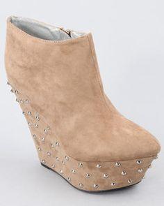 velvet wedge booties