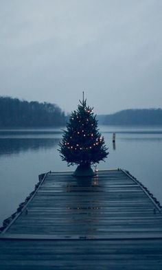 Juletre på brygga // Christmas tree on a wooden dock Coastal Christmas, Noel Christmas, Merry Little Christmas, All Things Christmas, Winter Christmas, Nordic Christmas, Outdoor Christmas, Simple Christmas, Diy Weihnachten