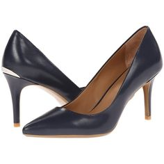 Calvin Klein Gayle (Navy) High Heels featuring polyvore, women's fashion,  shoes,