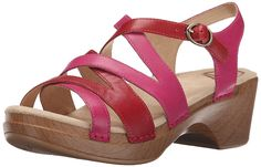 Dansko Women's Stevie Fuchsia Multi Wedge Sandal *** New and awesome product awaits you, Read it now  - Wedge sandals