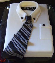 Kakefesten.com - kake, oppskrift, forum, bildegalleri, kakedekorering, kakepynt - Kategori: Konfirmasjon - Bilde: Skjortekake