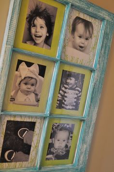 Window Pane Frame We have an old window frame we plan to do this with! Window Pane Picture Frame, Old Window Panes, Picture Frames, Window Frames, Window Ideas, Picture Boards, Photo Frame Design, Old Windows, Antique Windows