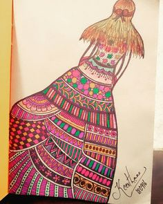 #doodleart #ladyindesignerdress #floraltop