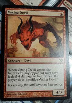 MTG 1x VEXING DEVIL - M/NM - AVACYN RESTORED Rare 🖤Fosterginger.Pinterest.Com♠️ More Pins Like This One At FOSTERGINGER @ PINTEREST 🖤No Pin Limits👈🏿Follow Me on Instagram @  👉🏿FOSTERGINGER75👈🏿 and 👉🏿ART_TEXAS