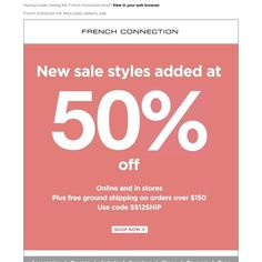 French Connection - More styles added to sale at 50% off
