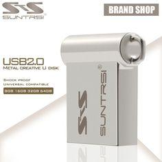 Suntrsi Portable USB Flash Drive Metal Pendrive 32gb 16gb usb 2.0 mini USB Stick Real Capaicty Pass H2tew Pen Drive Freeship