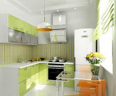 Зеленая кухня - лучшая подборка фото-примеров мебели и интерьеров
