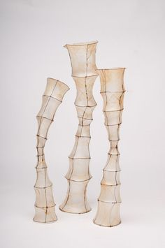 "wire and tissue paper sculpture | Standing Tall"" wire, hog casings"
