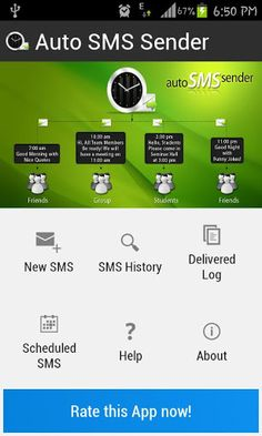 Auto Sms Sender Apps for Android