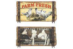 Farm Wall Hook Plaques Set on OneKingsLane.com