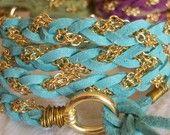 wrap bracelet. makes me think of the ocean!