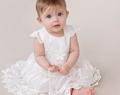 0-12 Months Crochet Baby Christening Dress by SuziesTalentPatterns