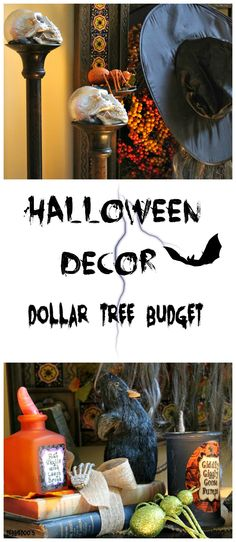 Halloween vignettes on a Dollar Store Budget!
