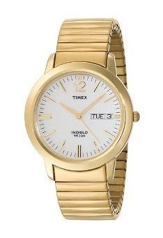 Timex Mens | Gold-Tone Band & Case Day/Date Calendar | Dress Watch T21942