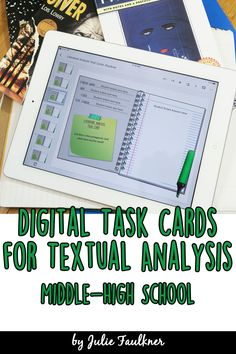 Response to a Text Task Cards BUNDLE, Traditional and Digital, Distance Learning, Google Classroom, Online Learning, Analyzing Text, Middle School, High School