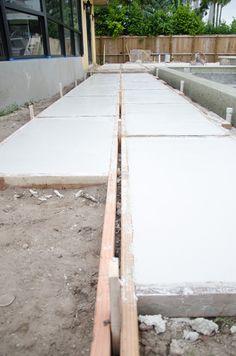 Concrete Paver Path Near the House