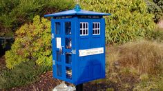 TARDIS Little Free Library - this organization makes free little libraries for you to maintain for your neighborhood  right in front of your own house...tardis is cool, but optional