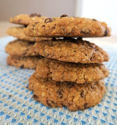 has shared another great cookie recipe! Desserts With Biscuits, No Cook Desserts, Chocolate Cookie Recipes, Chocolate Cookies, Biscuit Recipe, Cookies Et Biscuits, Cookies Healthy, Sweet Cooking, Coco