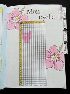 Suivi de cycle dans mon BuJo gingerpassion.canalblog.com