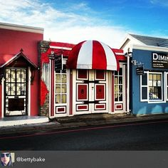 A romance of red... quaint #discoveroverberg storefront by @Betty Bake