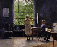 "daniel garber | Daniel Garber ""Students of Painting"" 1923 The Pennsylvania Academy of ..."