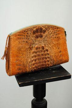 Vintage 1970s Blonde Hornback Crocodile Clutch Bag by DillyDandy, £94.00
