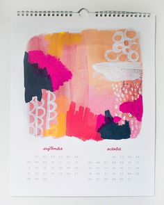 2014 Wall Calendar by moglea on Etsy
