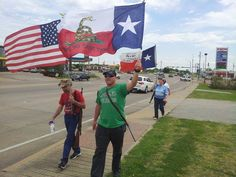Henderson County Open Carry Texas/Come And Take It walk down Main Street Gun Barrel City in Texas