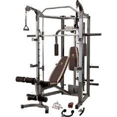 Home Gym Total Body Workout Weight Equipment W Smith Machine #Marcy