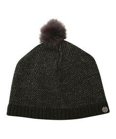 Look at this #zulilyfind! Black Khancoban Merino Wool Beanie by EMU Australia #zulilyfinds