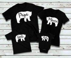 Family shirts- Matching Family shirts for matching family t shirts- mama bear- papa bear- baby bear- little bear Matching Family T Shirts, Family Reunion Shirts, Family Birthday Shirts, Mommy And Me Shirt, Dad To Be Shirts, Baby Shirts, Mom Dad Baby, Baby Boy, Bear T Shirt