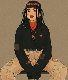 This work is not mine, credits to the author Cartoon Kunst, Cartoon Art, Aesthetic Drawing, Aesthetic Art, Art Sketches, Art Drawings, Fashion Sketchbook, Art Hoe, Cute Art
