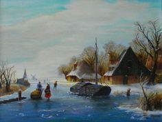 Oud Hollands Winterlandschap, M.Holtkamp-Kl.Falckenborg