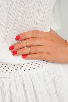 Stack In Action Rings: Gold --> use SUNSHINESTILETTOS for 10% off plus free shipping! Shophopes.com!