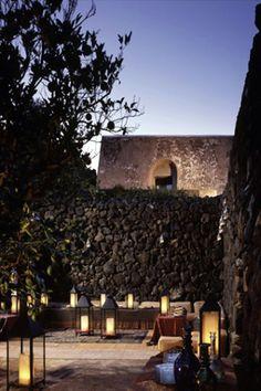 stone walls design -Giorgio Armani's holiday home