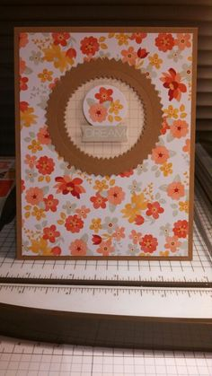 This is a card I made using the Starburst Framelits Dies and the Mini Memories Simply Created Album kit!