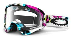 Oakley O-Frame MX Goggles with Clear Lens (White, One Size) by Oakley. $40.00. Amazon.com Product Description                   Available in a wide range of colors and styles  Dirt. Mud. H2O. Oakley O-Frame motocross goggles are engineered for destroying dirt tracks. With innovative frame construction and industry-best impact resistance, performance meets protection in every tight corner. Extended lens sizes and anti-fog systems give you a clearer view of it all.   Motocross...