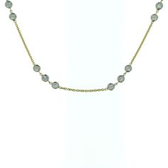 18k yellow gold diamond (18k white gold bezel-set) 1.20 carat weight (total) necklace