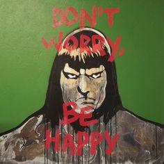"""don't worry"" / acrylic on canvas / 100x100cm / www.ronnybank.no"