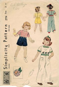 1930s Simplicity 2774 Vintage Sewing Pattern by midvalecottage