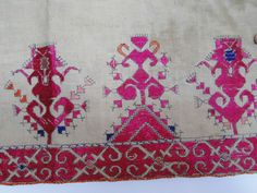 627 ANtique Textile Art Swat Valley Wedding Shawl - Swat Valley, Early 1900s