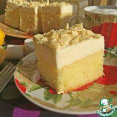 """Очень лимонный пирог с """"облаком"""" из маршмеллоу - кулинарный рецепт"""