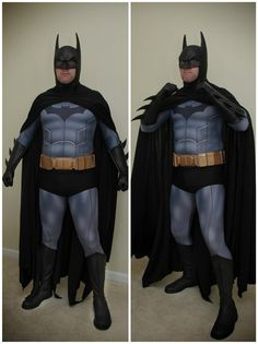 """Fail ... No offense to the guy. I got the same middle age body, but no amount of painted on abs is gonna """"Batman"""" you up. You need the armor style costumes to disguise the unfortunate ravages of time ... or a stronger commitment to the gym"""