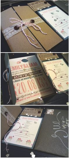 DIY wedding invitations :)......Lauren love for programs...how to open s