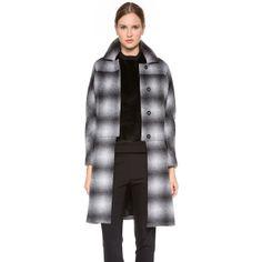 10 Crosby Derek Lam Oversized Plaid Coat ($348) found on Polyvore